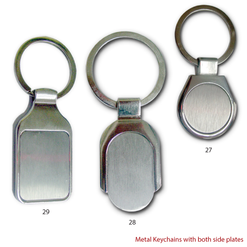 Metal Keychains with both side Logo Branding.