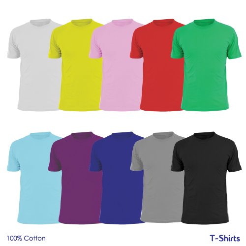Promotional t shirts in colors in wholesale for Bulk t shirts with logo