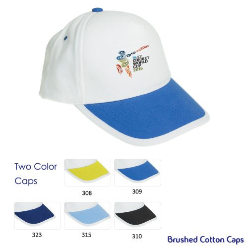 Promotional Cotton Caps in Double Colors