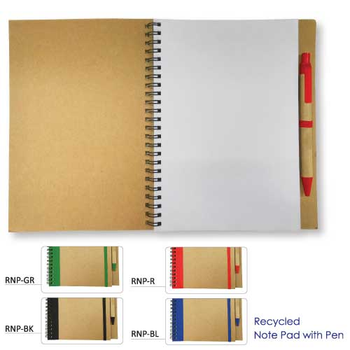 Promotional Notepad with Pen