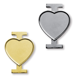 Badge Pins in I Love Title with Logo Branding