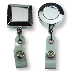 Badge Reels in Silver Mirror Shiny with