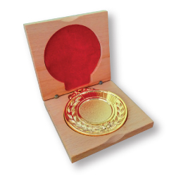 Wooden Box for Medals Packaging