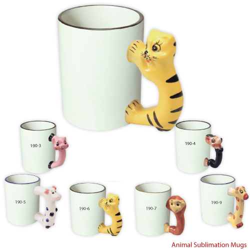 Photo mugs in animal shape and printed mugs for Animal shaped mugs
