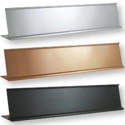 Desk Sign Holders in Gold, Silver, Black