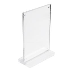 Transparent Acrylic Desk Sign Holder