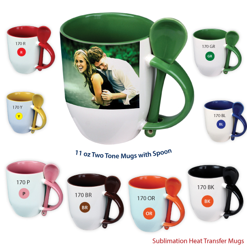 Photo Mugs with Spoon in Wholesale