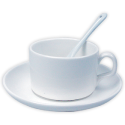 Tea Cup with Spoon and Saucer with Photo
