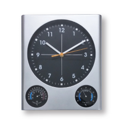 Square Wall Clock with Logo CLK-02