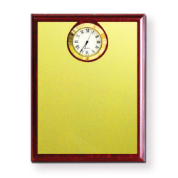 Wooden Plaques with Clock