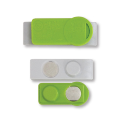 Badges Adhesive and Green Magnets