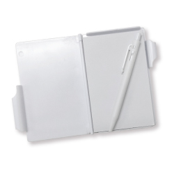 Hard Cover Notepad with Pen