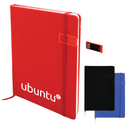 Notebook with USB Flash Drives