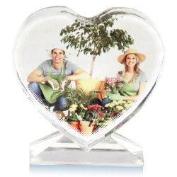Sublimation Crystal Heart Shape