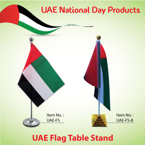 uae flag table stand on national day 2016 event