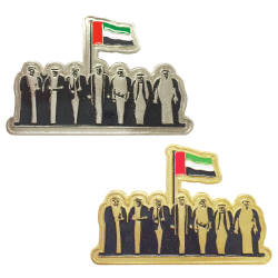 UAE National Day Badge Iron Metal in Gold & Silver