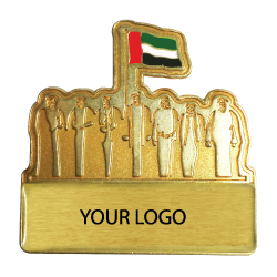 National Day Golden Badges with back magnet