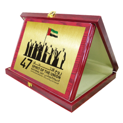 National Day Wooden Plaque with Box