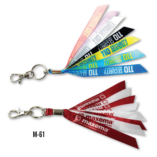 Promotional Ribbon Keychains M-61