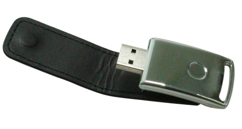 Leather Cover 8GB USB - Black - 47