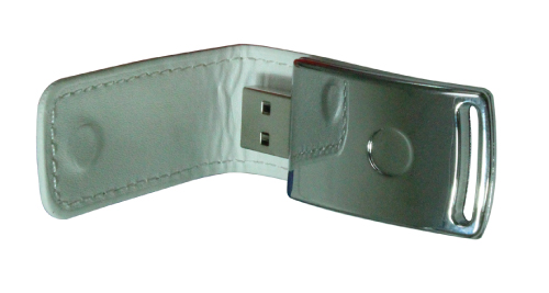 Leather Cover 8GB USB - White - 47