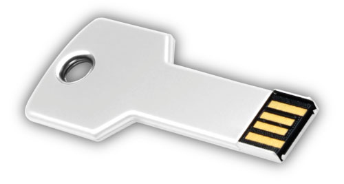 Key shaped USB 4GB - White