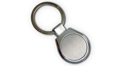 Metal Keychain with 2 Side Plate & Packing Box 27
