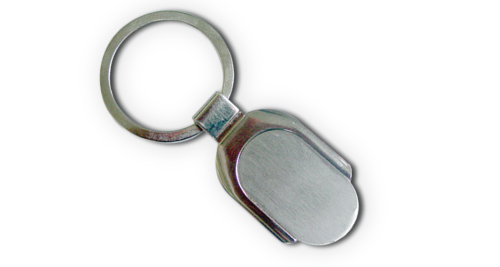 Metal Keychain with 2 Side Plate & Packing Box 28