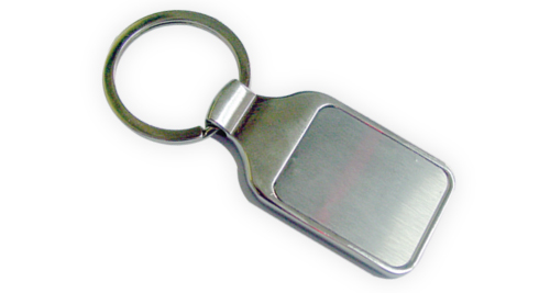 Two side Plates Metal Keychain with box - 29