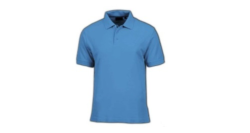 Cotton Polo T-shirt - Sky Blue  Color