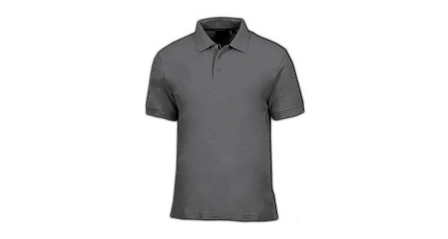 Cotton Polo T-shirt - Dark Grey Color