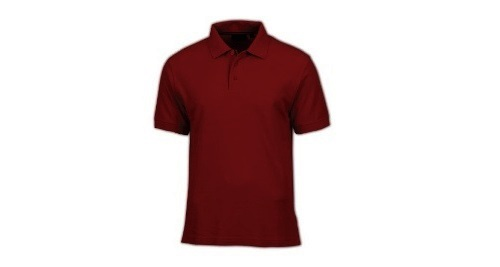 Cotton Polo T-shirt - Maroon Color