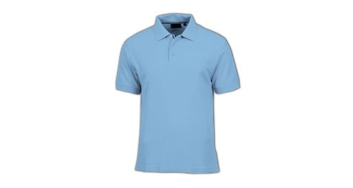 Cotton Polo T-shirt Light Blue Color