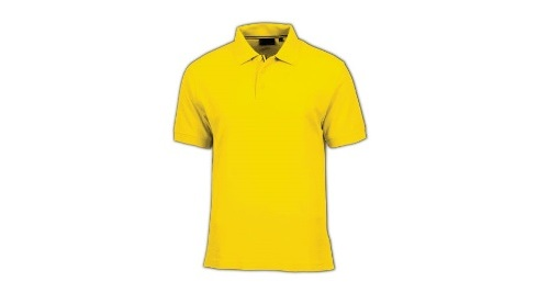 Cotton Polo T-shirt - Yellow Color