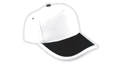 Cotton Caps, White and Black Color - 310