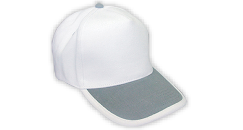 Cotton Caps, White & Grey Color - 344